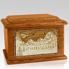 Mount Splendor Mahogany Memory Chest Cremation Urn