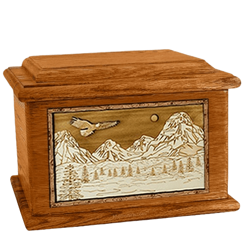 Mount Splendor Mahogany Memory Chest Cremation Urn