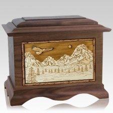 Mount Splendor Walnut Cremation Urn