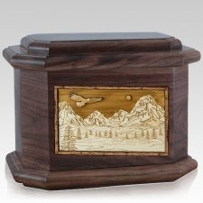 Mount Splendor Walnut Octagon Cremation Urn