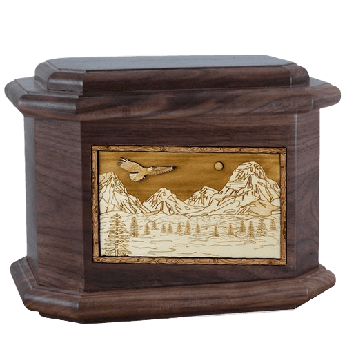 Mount Splendor Walnut Octagon Cremation Urn