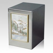 Mountain Lake Cremation Urn