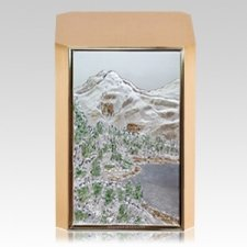 Mountain Peak Bronze Cremation Urn