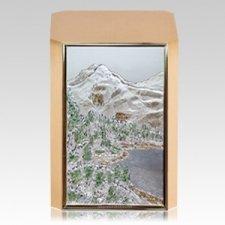 Mountain Peak Bronze Cremation Urn