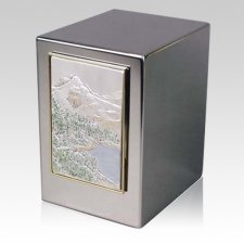Mountain Peak Cremation Urn