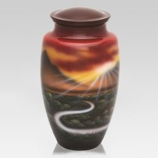 Mountain Sunset Cremation Urn