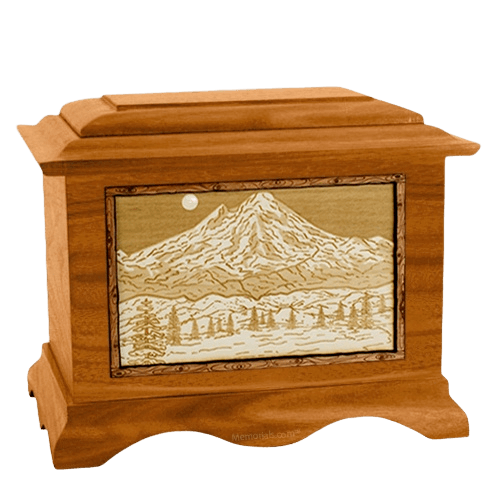 Mt Baker Mahogany Cremation Urn
