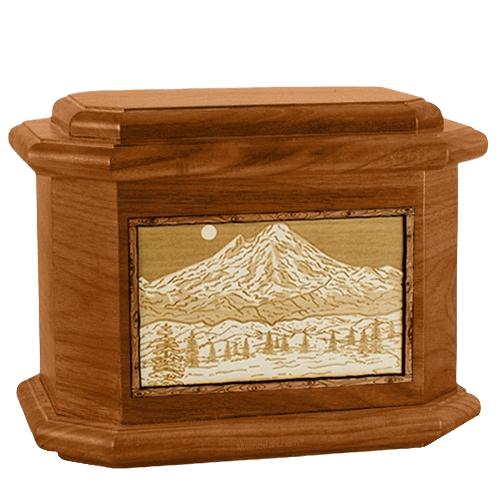 Mt Baker Mahogany Octagon Cremation Urn