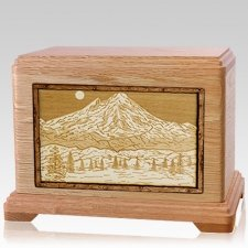 Mt Baker Oak Hampton Cremation Urn