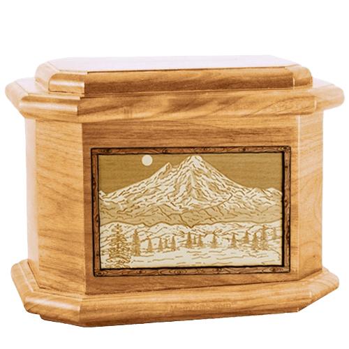 Mt Baker Oak Octagon Cremation Urn