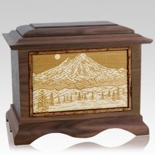 Mt Baker Walnut Cremation Urn