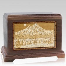 Mt Baker Walnut Hampton Cremation Urn