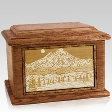 Mt Baker Walnut Memory Chest Cremation Urn