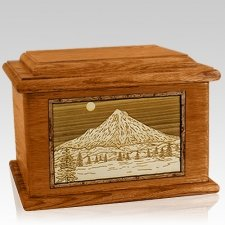 Mt Hood Mahogany Memory Chest Cremation Urn