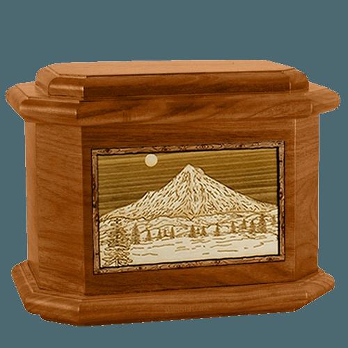 Mt Hood Mahogany Octagon Cremation Urn