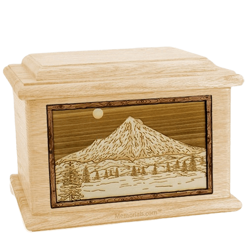 Mt Hood Maple Memory Chest Cremation Urn