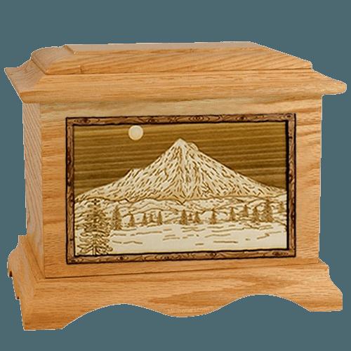 Mt Hood Oak Cremation Urn