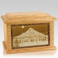 Mt Hood Oak Memory Chest Cremation Urn
