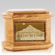 Mt Hood Oak Octagon Cremation Urn