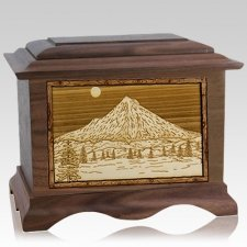 Mt Hood Walnut Cremation Urn