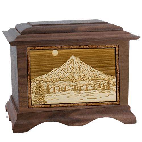 Mt Hood Walnut Cremation Urn