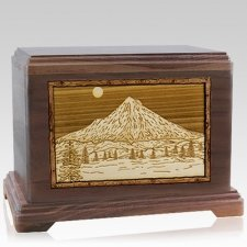 Mt Hood Walnut Hampton Cremation Urn