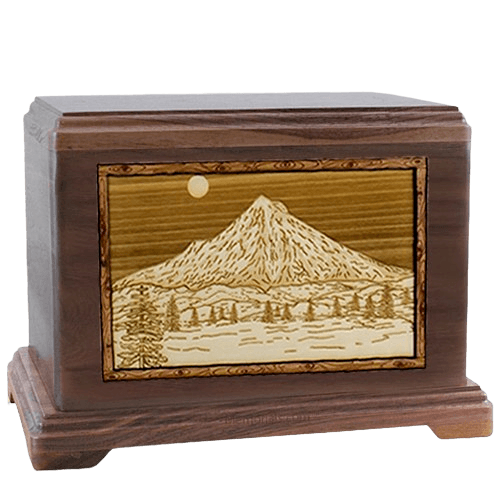 Mt Hood Walnut Hampton Cremation Urn