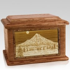 Mt Hood Walnut Memory Chest Cremation Urn