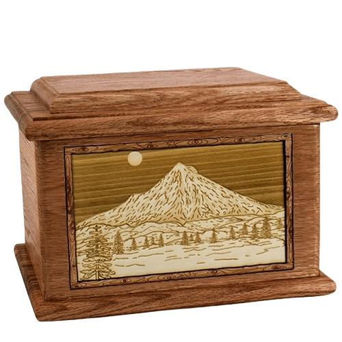 Mt Hood Walnut Memory Chest Cremation Urn