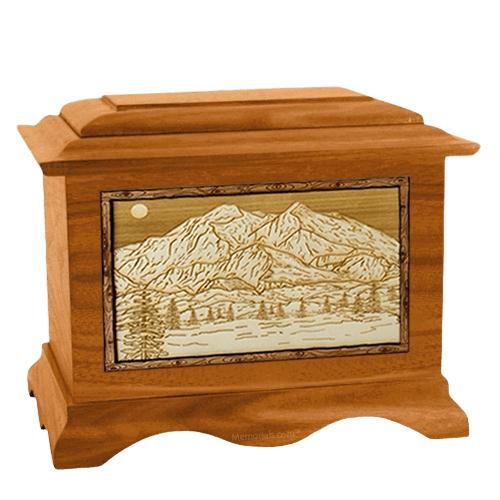 Mt McKinley Mahogany Cremation Urn
