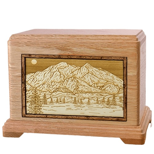 Mt McKinley Oak Hampton Cremation Urn