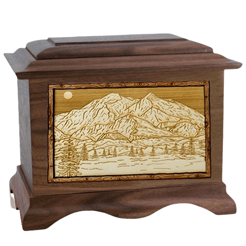 Mt McKinley Walnut Cremation Urn