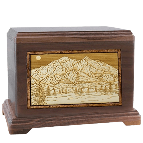 Mt McKinley Walnut Hampton Cremation Urn