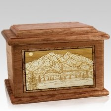 Mt McKinley Walnut Memory Chest Cremation Urn