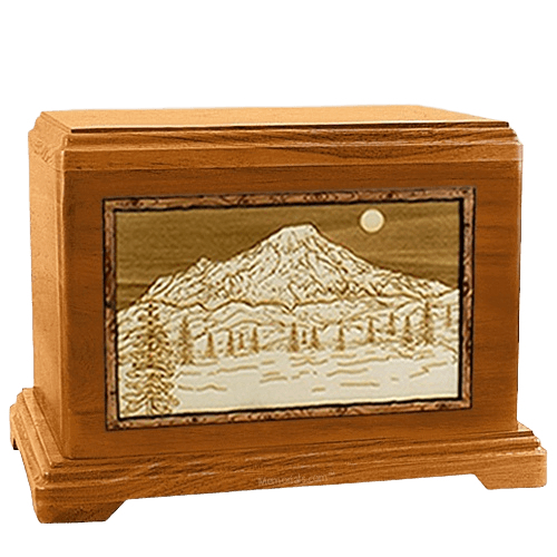 Mt Rainier Mahogany Hampton Cremation Urn