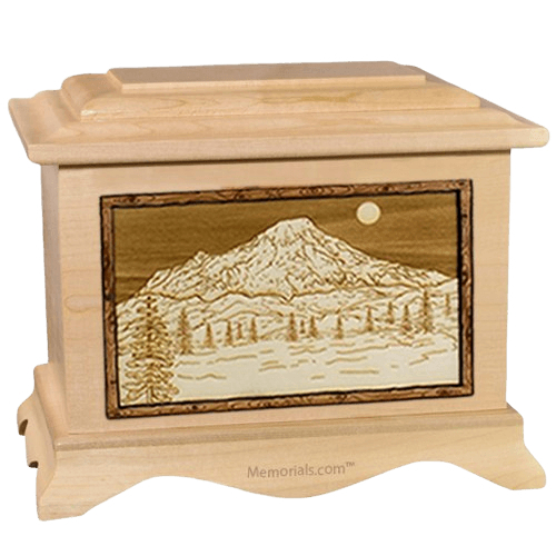 Mt Rainier Maple Cremation Urn