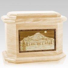Mt Rainier Maple Octagon Cremation Urn