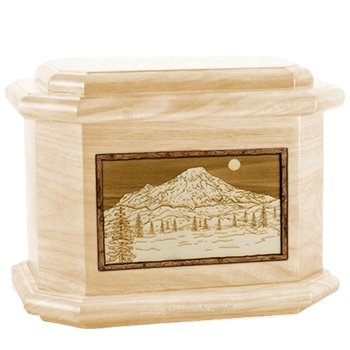 Mt Rainier Maple Octagon Cremation Urn