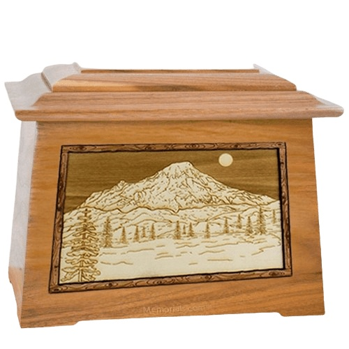 Mt Rainier Oak Aristocrat Cremation Urn