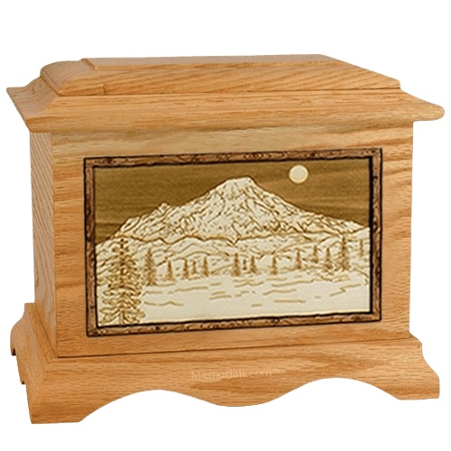 Mt Rainier Oak Cremation Urn