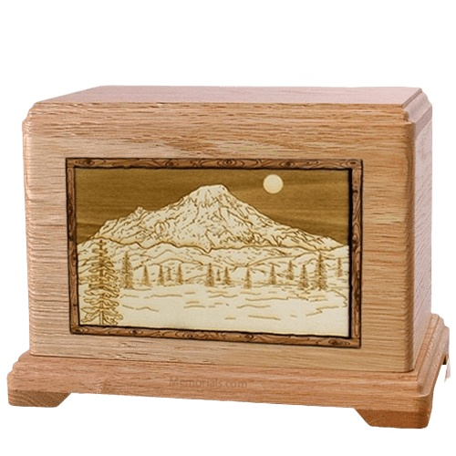 Mt Rainier Oak Hampton Cremation Urn