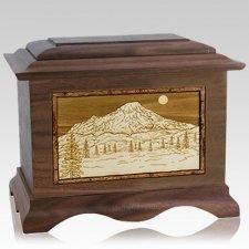 Mt Rainier Walnut Cremation Urn