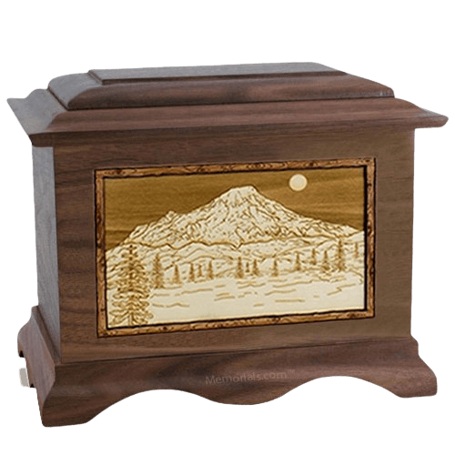 Mt Rainier Wood Cremation Urns