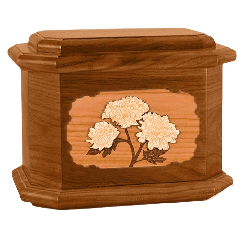 Mums Mahogany Octagon Cremation Urn