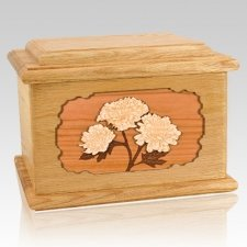 Mums Oak Memory Chest Cremation Urn