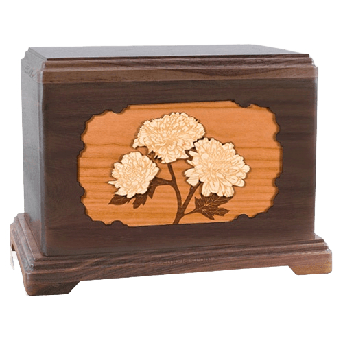 Mums Walnut Hampton Cremation Urn