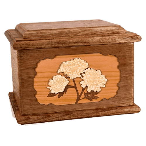 Mums Walnut Memory Chest Cremation Urn