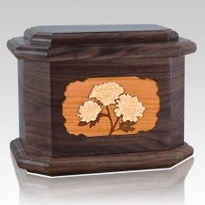 Mums Walnut Octagon Cremation Urn