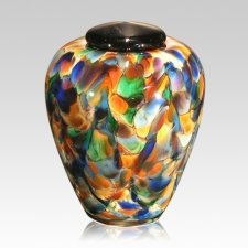 Mundo Small Glass Cremation Urn