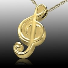 Music Cremation Pendant II